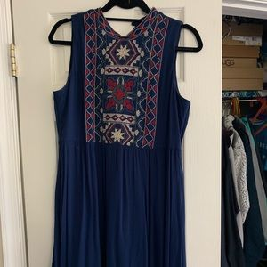 navy francesca's dress w/ high neck
